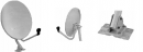 DSD90B, 90cm Satellite Dish c/w Mounting Kit